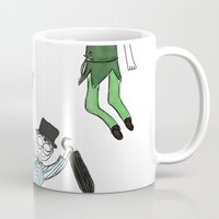 peter pan Mugs featuring Peter Pan by Thatseelyah