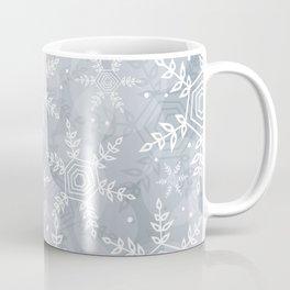 Snowflake pattern gray Coffee Mug