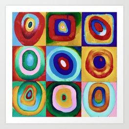 Colorful circles tile Art Print