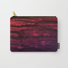 Red & Purple Wood Tree Bark Grunge Carry-All Pouch