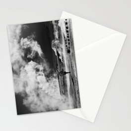 Walking into Fire Stationery Cards
