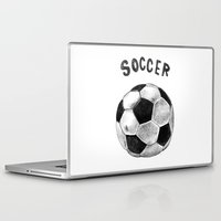 soccer Laptop & iPad Skins featuring Soccer by Matthias Leutwyler
