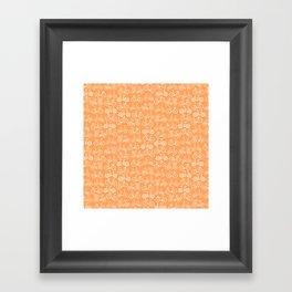 Orange Bicycle Pattern Framed Art Print