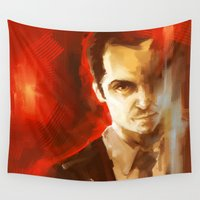moriarty Wall Tapestries featuring Jim Moriarty by AkiMao