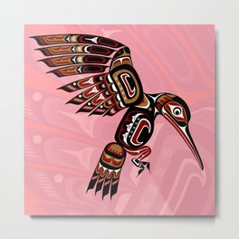 Hummingbird, Salish Seasons Metal Print