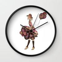 ballon Wall Clocks featuring Le Ballon // Birthday II by annabours