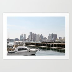 Boston By Day Art Print