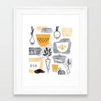 kitchen Framed Art Prints featuring Kitchen by Jessica Phillips