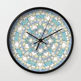 Pastel Bloom Wall Clock