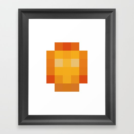 hero pixel red yellow Framed Art Print