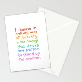 Ordinary Acts of Bravery - Divergent Quote Stationery Cards