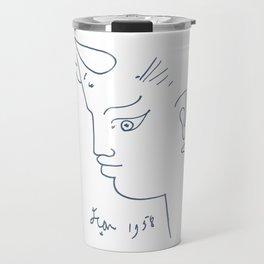 Jean Cocteau Tete de Faune (Head of Fauna), Artwork, Posters, Prints, Tshirts, Men, Women, Kids Travel Mug