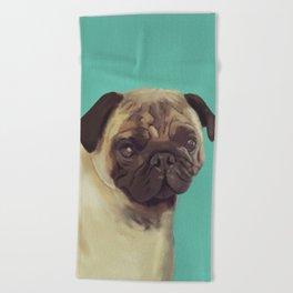 PUG! Beach Towel