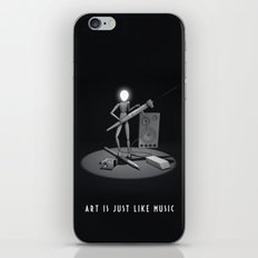 art is just like music iPhone & iPod Skin