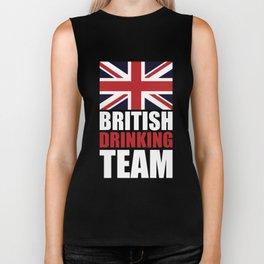 Union Jack British Drinking Team Biker Tank