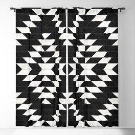 Urban Tribal Pattern No.14 - Aztec - Black Concrete Blackout Curtain