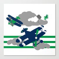 airplanes Canvas Prints featuring Airplanes 2  by ann t jones