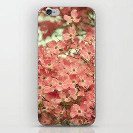 PRETTY PINK DOGWOOD TREE FLOWERS iPhone Skin