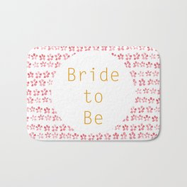 Bride to be! - wedding watercolour pattern typography Bath Mat