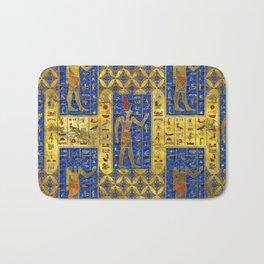 Egyptian  Gold  symbols on Lapis Lazuli Bath Mat