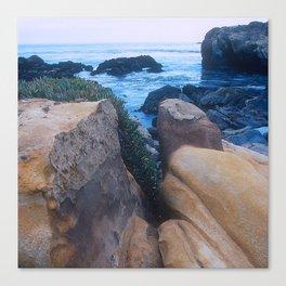 """Private - No Trespassing"" Rugged, Rocky Coastal Cove Canvas Print"
