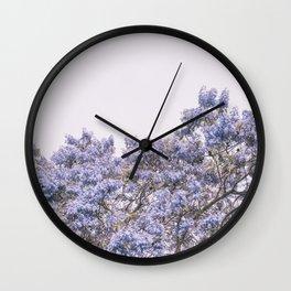 Jacaranda Tree Top Wall Clock
