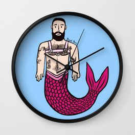 Beard Boy: Adam Merman Wall Clock