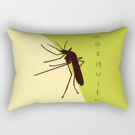 Biting mosquito print, insect silhouette illustration Rectangular Pillow