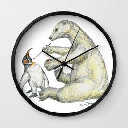 Colour Bear Wall Clock