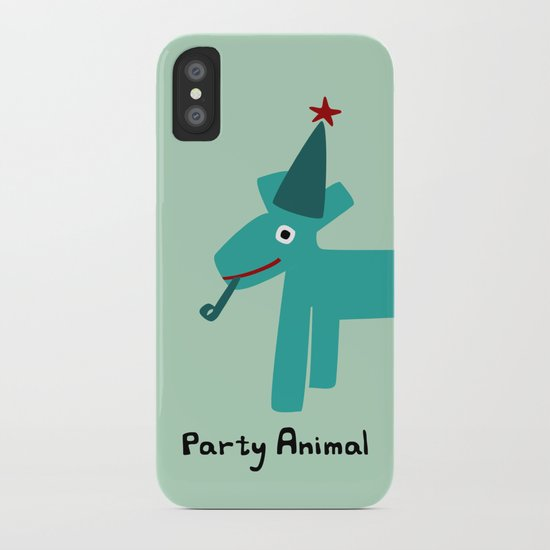 Party Animal-Teal iPhone Case