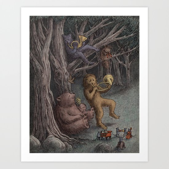 Forest Music  Art Print