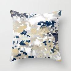 Nigel - Abstract art painting brushstrokes free spirt dorm college masculine feminine art print cali Throw Pillow