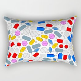 Pills Isolated On White Background Rectangular Pillow