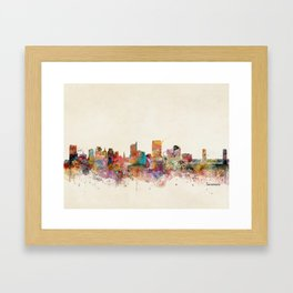 sacramento california skyline Framed Art Print