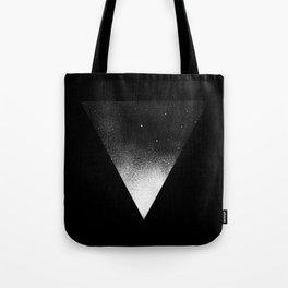 White Dot Triangle Tote Bag