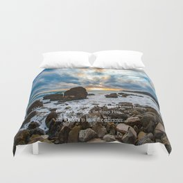 Serenity Prayer Duvet Cover