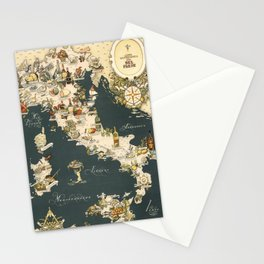 Gastronomic Map of Italy 1949 Stationery Cards