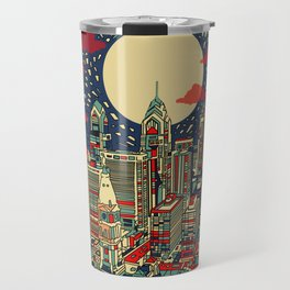 philadelphia city skyline Travel Mug