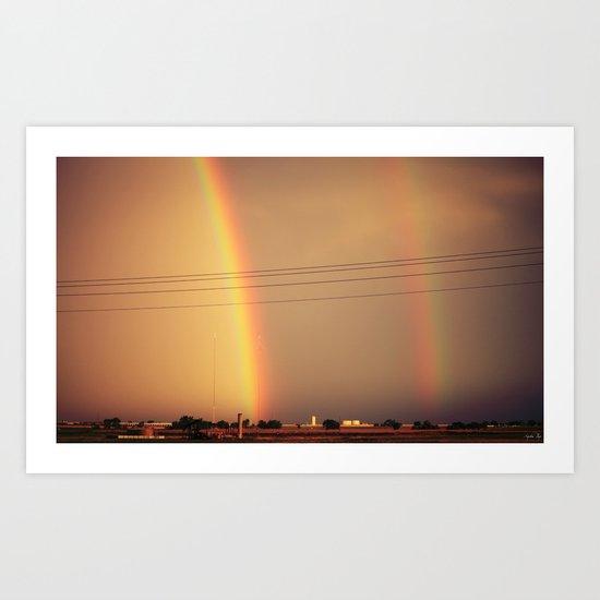 Dos Rainbows Art Print