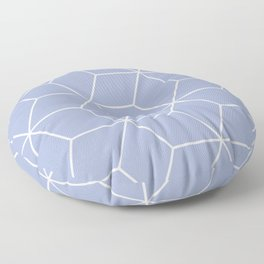 Blue and white geometric pattern Floor Pillow
