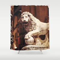 florence Shower Curtains featuring Florence, Italy by Tana Helene