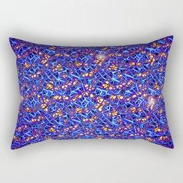 Blue Sub-atomic Lattice Rectangular Pillow