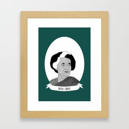 Indira Gandhi Illustrated Portrait Framed Art Print