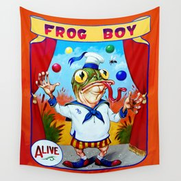 Frog Boy Wall Tapestry