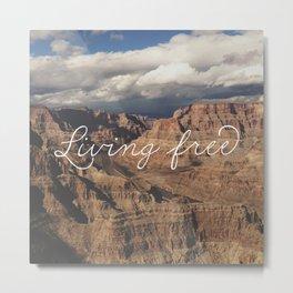 Living Free Metal Print