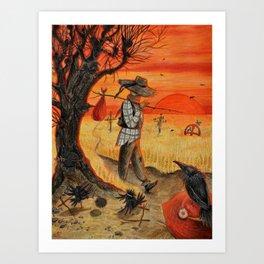 Scarecrow Retires Art Print