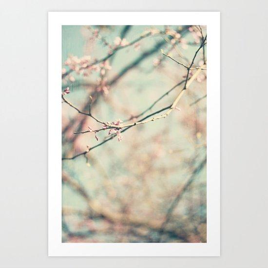 spring #2 (pink&bleu) Art Print