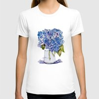 hydrangea T-shirts featuring Hydrangea painting by KarenHarveyCox