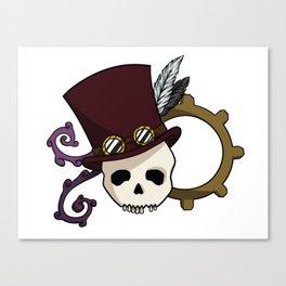 Steampunk Skull Canvas Print