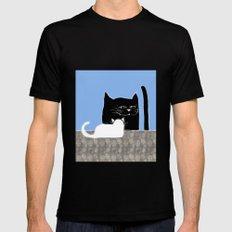 Frisky the Cat Mens Fitted Tee Black MEDIUM